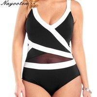 Women Plus Size 6XL Swimwear 2018 Push Up New Both Shoulders Bathing Suit Feminino Sexy Halter