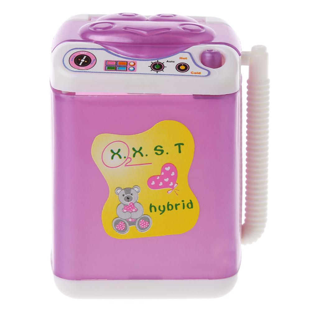 Furniture Washing Machine For Barbie Doll House Baby Toys Doll Accessories