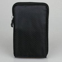 Téléphone Portable étanche Pochette En Nylon Ceinture Taille Sac Double Zip 3 Étui de poche avec Printemps Clip Crochet adapte téléphones sous 6 pouces