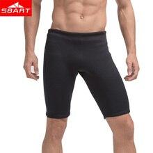 SBART Surfing Wetsuit Pants 3mm Neoprene Short Pants for Men Snorkeling Plus Size XXXXL Solid Black Swimming Rashguard Trunks N