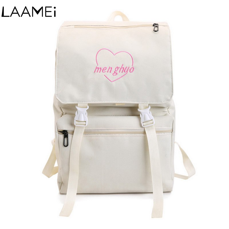Laamei Kawaii Backpack For Laptop School Backpack For Teenage Girl Canvas Bagpack Notebook Backpack Sac A Dos Student Rucksack 15 pin vga female to dvi d male adapter converter lcd h029