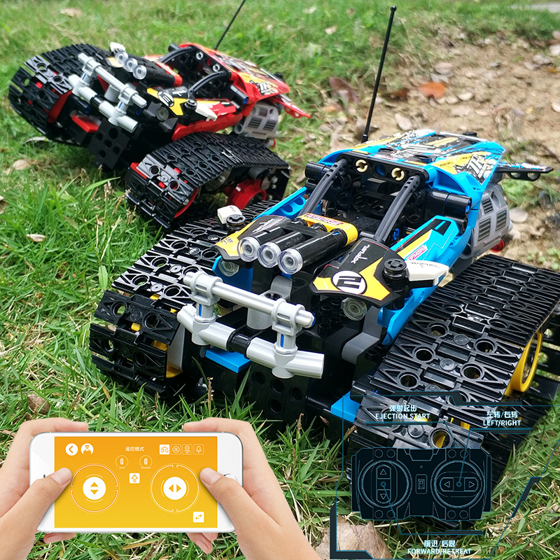 Technic RC TRACKED RACER Car APP Electric Motor Power Function City Building Block Model Kids gift Compatible Legoingly 42095Technic RC TRACKED RACER Car APP Electric Motor Power Function City Building Block Model Kids gift Compatible Legoingly 42095