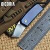 DICORIA Small Sawyer Mini Folding Knife D2 Blade Titanium Handle Outdoor Camping Knives Bottle Opener Screwdriver