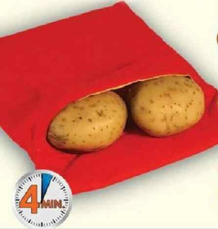 Perfect Oven Baked Potatoes In Just 4 Minutes Useful Cooking Tool  Red Potato Bag Microwave Potato Cooker
