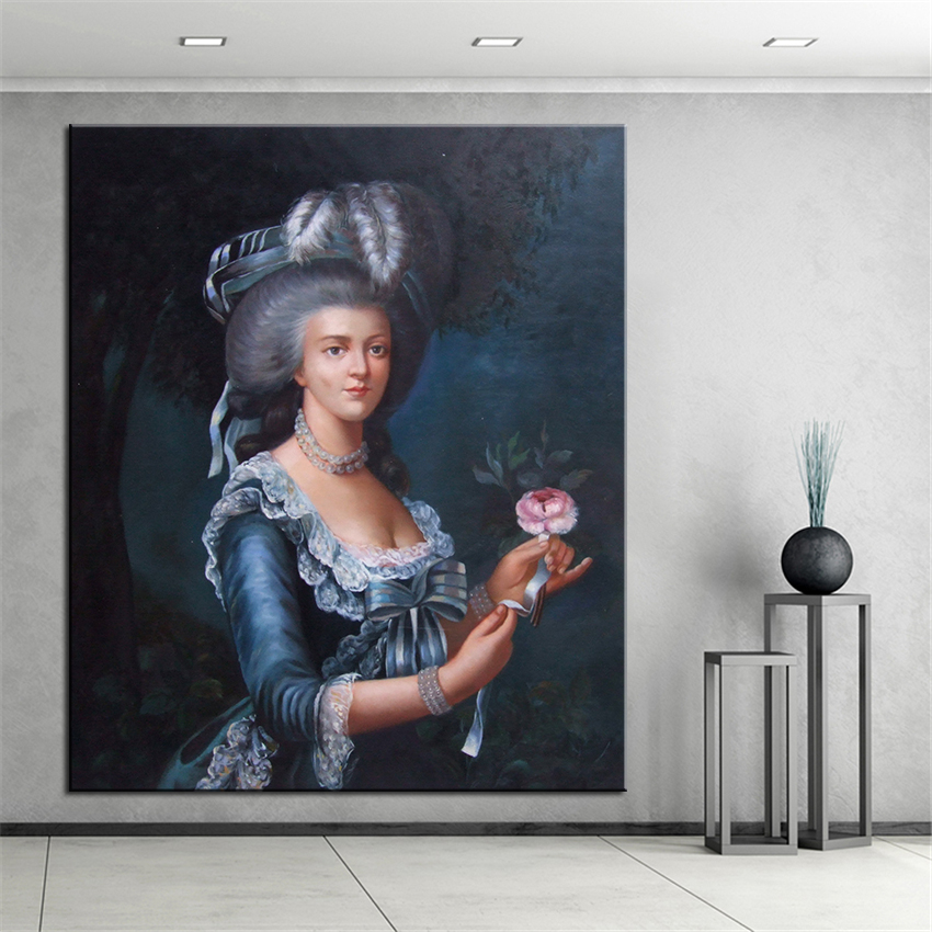 large sizes wall art wall decor grandmother custom portrait original oil painting print for wall picture no frame