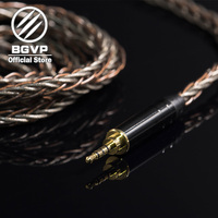 BGVP 6N OCC+Siver silk Hybrid cable 2.5mm 3.5mm 4.4mm DIY cable MMCX interchangeable Hifi upgrade cable DM7