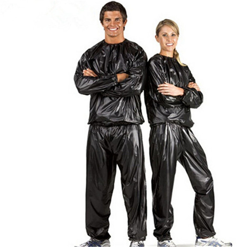 Man Woman Unisex Fitness Loss Weight Sauna Suit Set Slimmer Slim Exercise Workout Sweat Sauna Suit streetwear