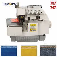 737/747/757 Super high speed overlock sewing machine,BateRady 3/4/5line overedge sewing machine,without motor and support plate