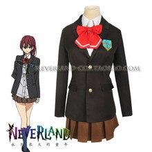 De Halloween Envío! Iwatobi Club Gou Matsuoka Cosplay Uniforme escuela secundaria traje completo set coat + shirt + skirt + tie + insignia