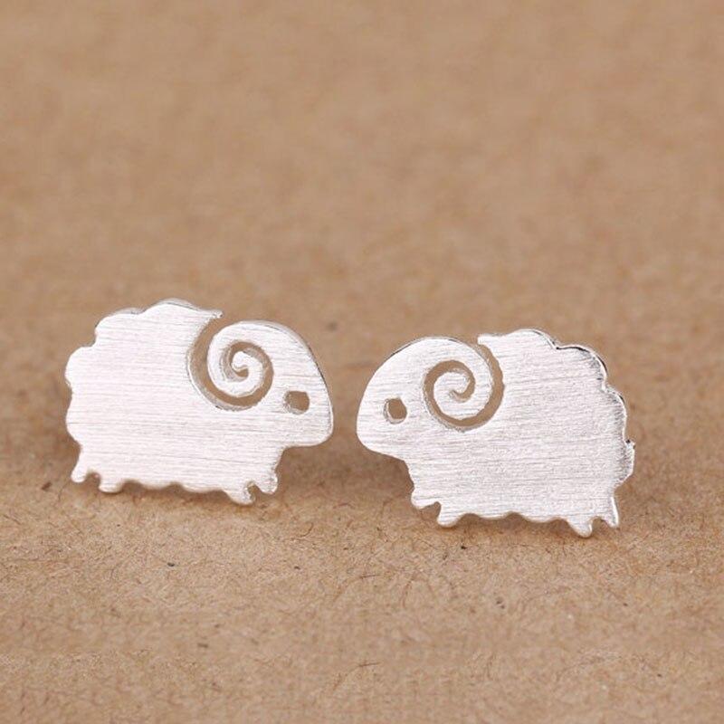 JEXXI Trendy Fashion 925 Sterling Silver Sheep Shape Stud Earrings for Women Factory Pri ...