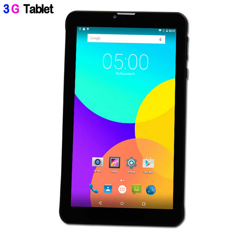 BDF 7 pulgadas Q706 Original Android 6,0 Tablet Pc 1024*600 Quad Core incorporado 3G teléfono tableta 1 GB de RAM 16 GB ROM externo 3G Tablet 7