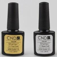 Free Shipping 2016 HOT SALE 2pcs Lot CNDs New Shellacs UV Gel Polish Base Coat Nail