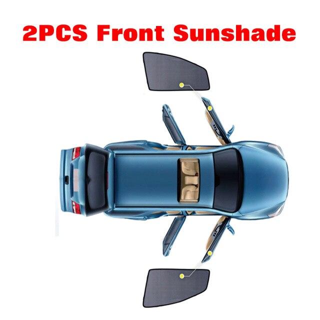 2 pcs 2 Pcs Magnetic Car Front Side Window Sunshade For Honda Elysion Odyssey City Jade Crosstour Crider Spirior Car Window Sun Shade (5)