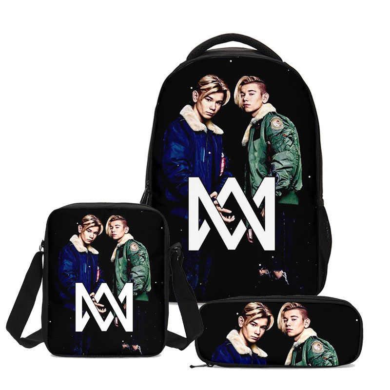 Marcus And Martinus School Bags Sets 3pcs Design Kids Backpack Shoulder  Bagpack Mujer Bolsa Escolar Necessarie Sac Main Femme