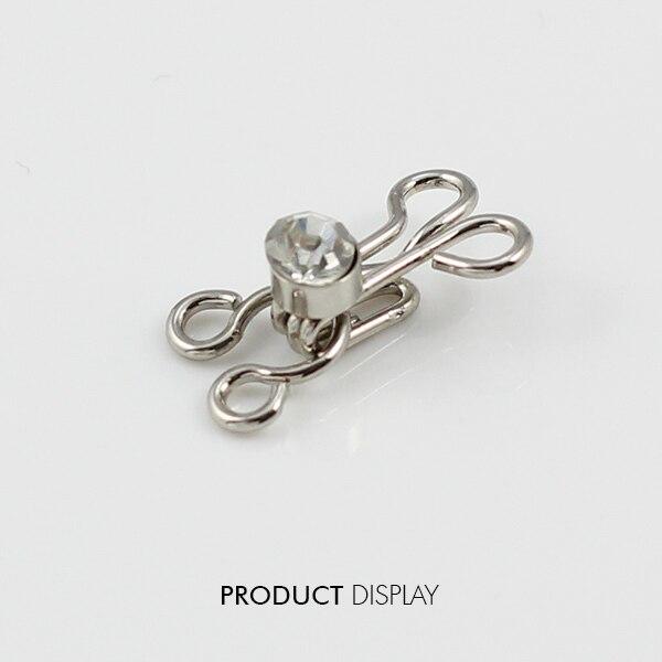 ≧10 Unidades cristal Diamantes con piedras falsas gancho de tono ...