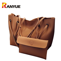 RANYUE 2 Set Women Composite Bag High Quality Pu Leather Shoulder Bag Large Capacity Tote Bags