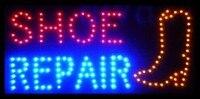 2017 Горячая продажа графика 15,5X27,5 дюймов крытый ультра яркий мигающий ремонт обувной магазин Открытый Неоновый знак Led