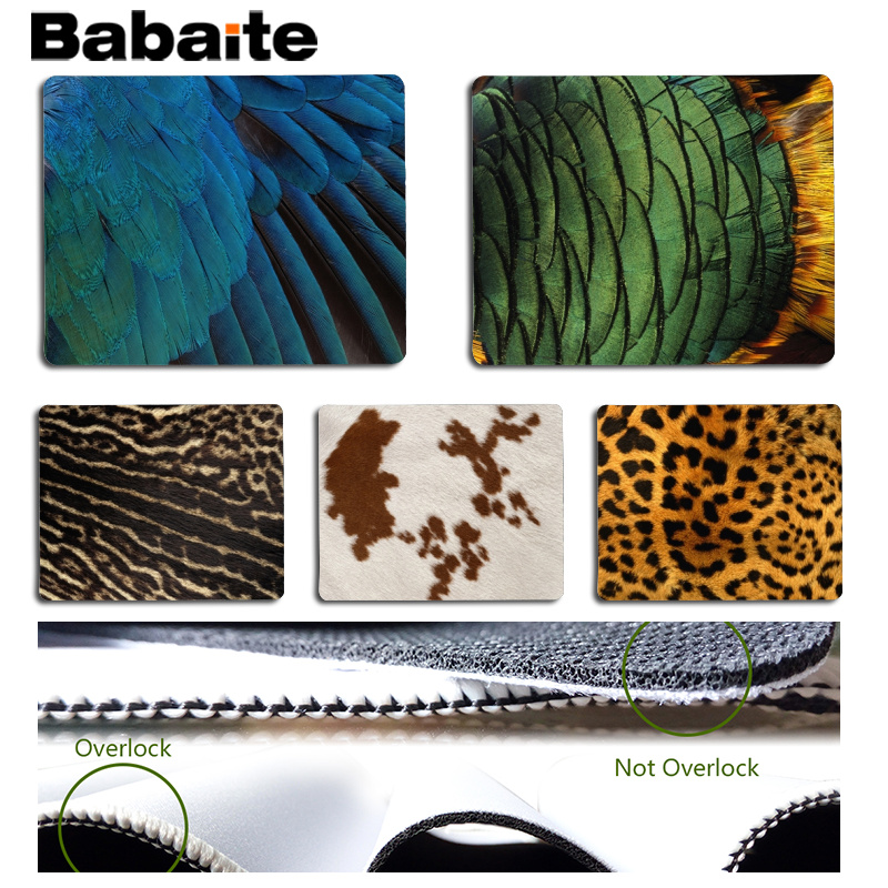 Babaite Personalized Cool Fashion Fur texture Office Mice Gamer Soft Mouse Pad Size for 180x220x2mm Small Mousepad