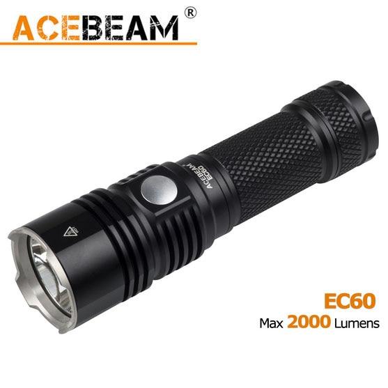 ACEBEAM EC60 Cree XHP35 HI LED 2000 lumen 26650 USB Rechargeable Flashlight fenix hp25r 1000 lumen headlamp rechargeable led flashlight
