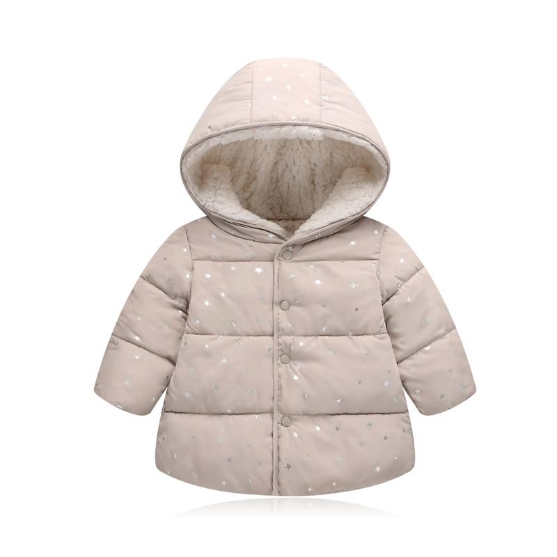 6c0388ba9 Otoño Invierno bebé prendas de vestir exteriores niños niñas con capucha  impreso princesa chaqueta abrigos primeros regalos de cumpleaños de algodón  ...