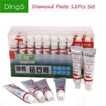 12 шт w05 ~ 40 жирной алмазов абразивные пасты для полировки