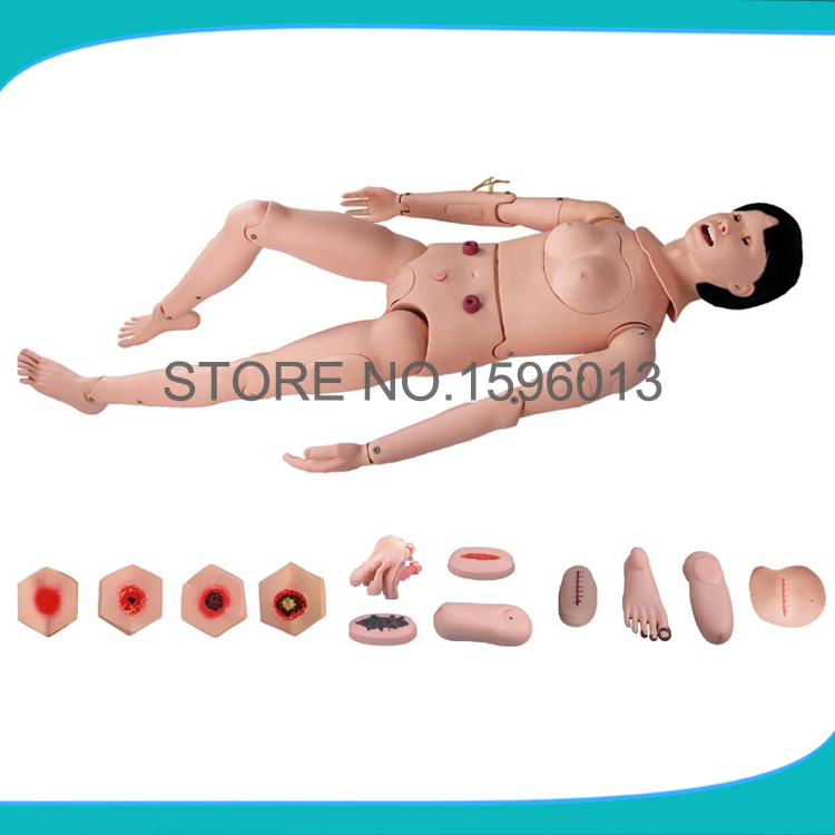 Basic Combination Nursing Manikin, Female Nursing Manikin, Nursing mannequin brown marvelle haematology nursing