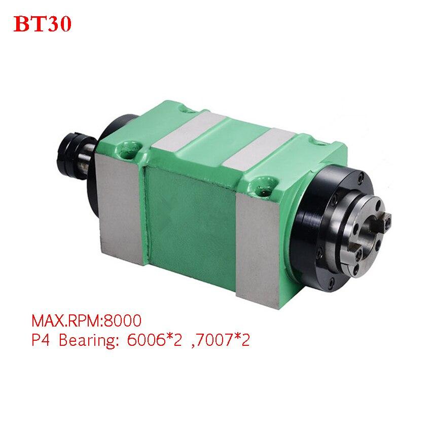 CH002 0.37KW Puissance Tête Unité machine-outil cnc Broche pour fraiseuse Max. RPM 8000 RPM/300 RPM Conique Chuck BT30 MT3 ER25
