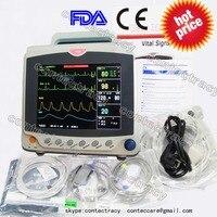CMS6000C ICU Patient Monitor ECG/EKG/NIBP,SPO2,PR,RESP,TEMP, 6 Parameters,CONTEC