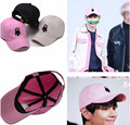 kpop Bangtan Boys BTS plates youth Kim hang with a lovely pink hat Xiongben V baseball cap k-pop ulzzang cap k pop lovely Goods