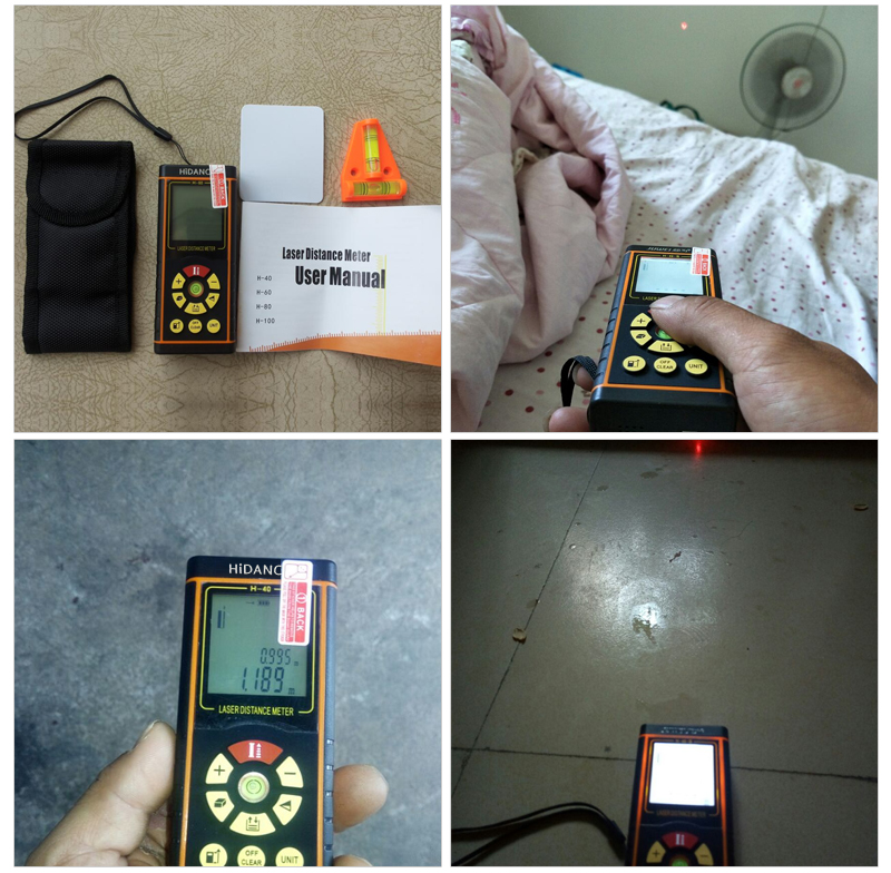 """""""100M HiDANCE 12 IN 1"""" skaitmeninis lazerio atstumo matuoklis - Matavimo prietaisai - Nuotrauka 5"""