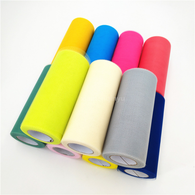 Home & Garden Arts,crafts & Sewing Devoted 15cm*22m Tulle Roll Wedding Decoration Roll Fabric Spool Craft Tulle Curtains Tutu Diy Organza Baby Shower Party Supplies 5zsh7