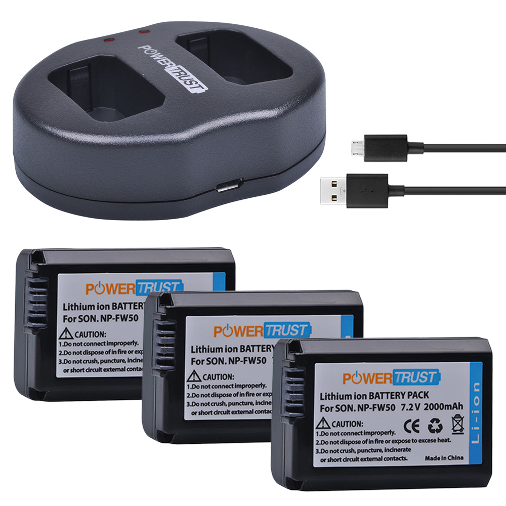 Div Classgrid Classimgholder Img Srchttps Ae01 Wasabi Power Battery 2 Pack And Charger For Sony Np Fw50 3x 2000mah Npfw50 Batteries Usb Dual Alpha A6500 A6300
