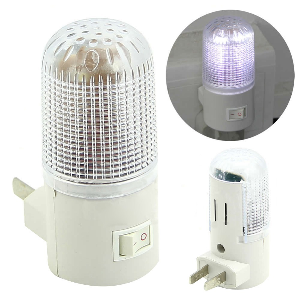 New 3W 4 LEDs Bedroom Wall Mounting Night Lamp Simple Light for children sleep 110V US Plug Lighting Bulb