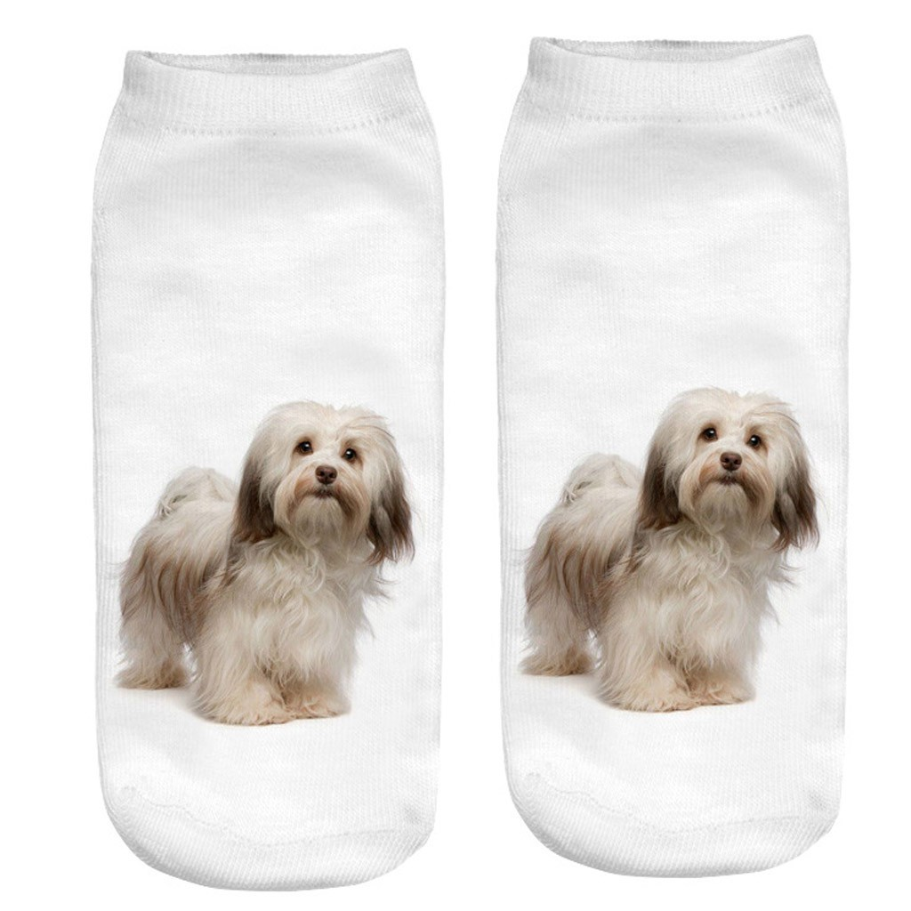 Perimedes Women 3D Cartoon Funny Crazy sport socks female Cute Dogs Amazing Novelty Print Ankle soft jogging smooth Socks#y30