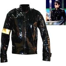 Панк MJ Майкл Джексон Черная Военная крутая кожаная куртка Верхняя одежда для коллекции Хэллоуин Supprise подарок