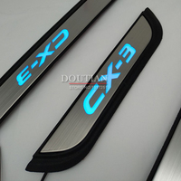 NEW Original Quality LED Light Door Sill Scuff Plate Car Covers For Mazda CX 3 CX 3 cx3 Car Styling Accessories 2017 2018