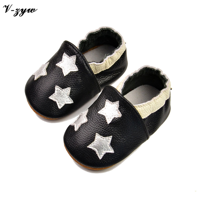 New Fashion Spring Autumn Baby First Walkers Breathable Shoes Soft Leather Baby Walking Boots Boys Infant Shoes Slippers GZ035