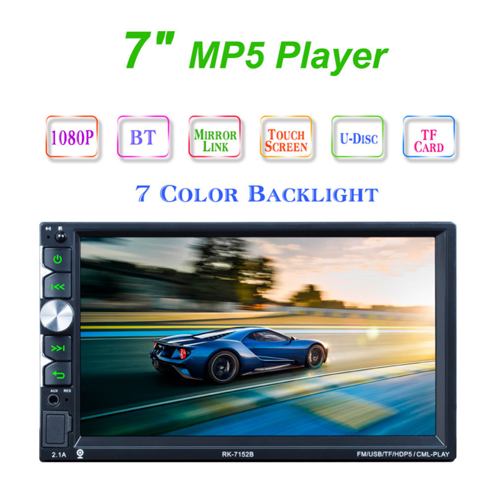 2Din 7inch Bluetooth HD 1024*600 Car MP5 Player with Card Reader Radio Tuner Fast Charge with Camera Car Stereo MP5 Player цены онлайн