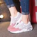 2016 Moda Flats Mulheres Formadores Mulher Esporte Sapatos Casuais Sapatos de Caminhada Ao Ar Livre Respirável Mulheres Flats Zapatillas Mujer