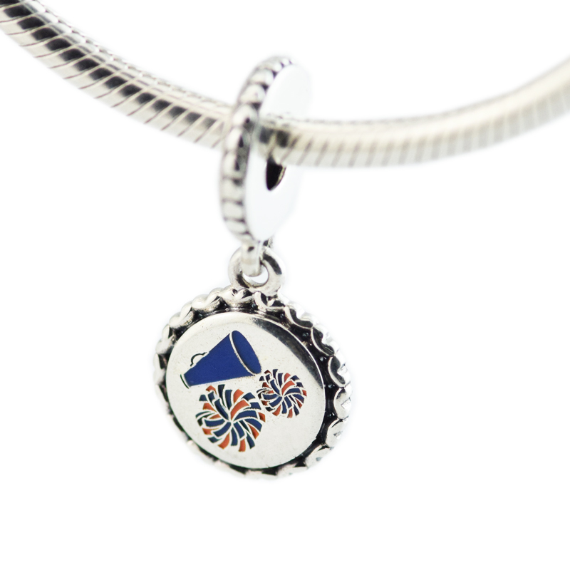 Reflections Sterling Silver Cheerleader Dangle Bead