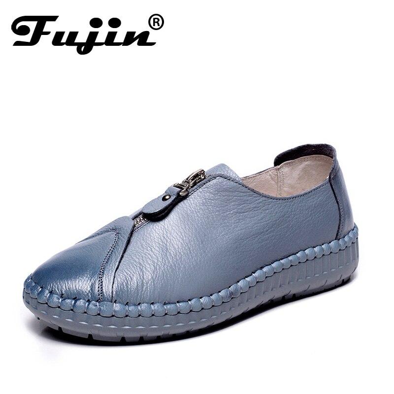 2019 printemps été hiver dame mocassins appartements mocassins doux chaussures femmes chaussures décontractées bout rond confortable chaussures à glissière