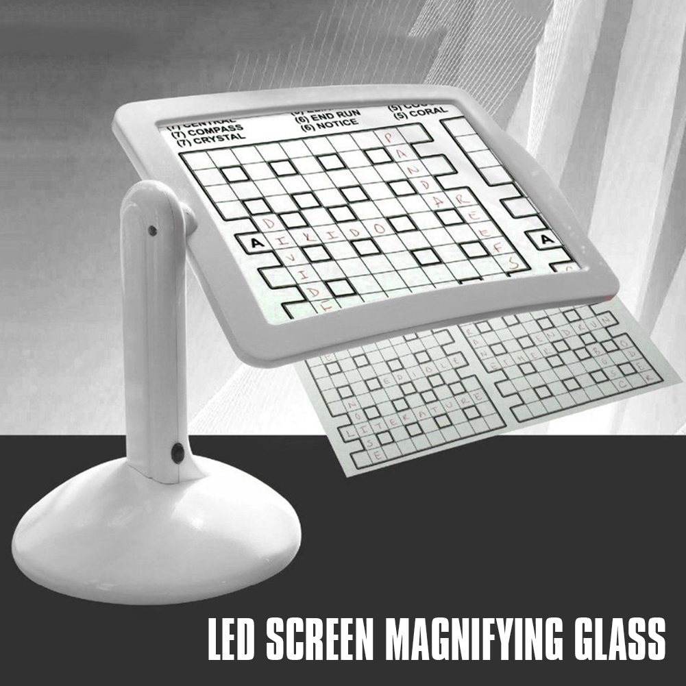 Professional Brighter LED Screen Page Magnifier Reading Viewer Hands-Free LED Adjustable Magnifying Glass Brighter Reading Tools