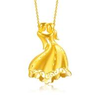 Чистый 999 24 К желтого золота Lucky Танцы девочка Подвеска 8.49 г