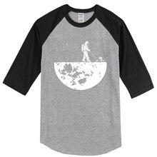 Men's T-shirts 2019 new summer three quarter sleeve tshirt Develop The Moon funny t shirts Unisex Design top t-shirt tees kpop
