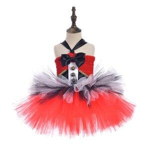 Image 3 - קרקס מנהל קרקס בנות טוטו שמלה אדום ושחור לבן בנות יום הולדת ילדי שמלת מסיבת חג מולד ליל כל הקדושים תחפושת תלבושות
