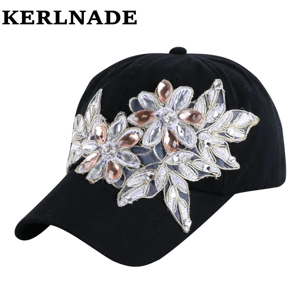 Prix pour Dernière conception modèle beauté COURONNE en forme de cristal perles bling strass fille femmes de luxe marque denim snapback chapeaux casquettes de baseball