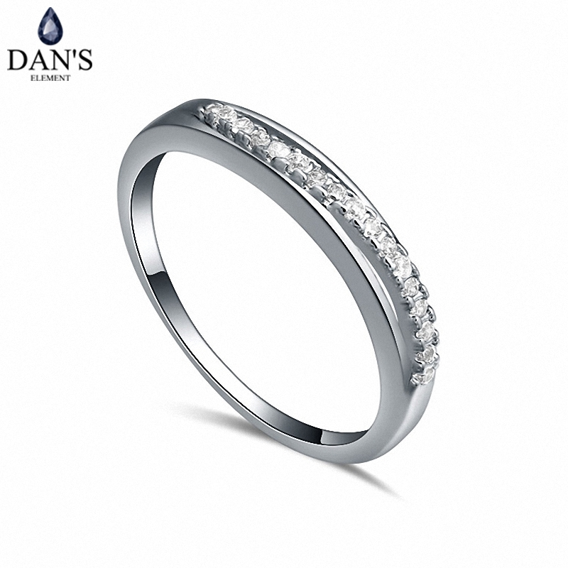 DAN'S Real Austrian Crystals  Brand    AAA Zirconia  Micro Inlays  Fashion Ring for women New Geometric 108624white