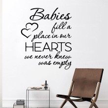 Fashion baby heart Wall Sticker Art Paper Decals naklejki na sciane