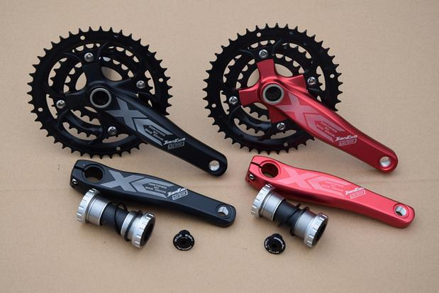 Mountain bike 27speed tooth plate  hollow crankset/Mountain bike chainwheel/mtb crankset 44-32-22T (170MM)Mountain bike crankset prowheel chariot 53t folding bike road bike crankset 170 crank bicycle chainwheel 170l 170mm for sp8 8s 9s speed