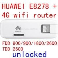 Разблокированный huawei E8278 E8278S-602 4 аппарат не привязан к оператору сотовой связи модем + маршрутизатор Wi-Fi 150 Мбит/с lte 4G USB wifi-модем 4g Wi-Fi шифрато...